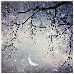 watercolor winter evening sky full moon - Yahoo Image Search Results