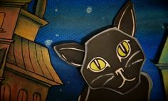 """A black cat observes the effects of a potent drink on several people in the clever animated music video for the band Mr. Moonshine's song """"Comfort Me With Absinthe"""" (2014)."""