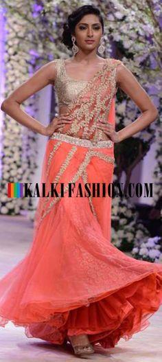 http://www.kalkifashion.com/designers/jyotsna-tiwari.html Urnashi Rautela and other models walk the ramp for Jyotsna Tiwari at Indian Bridal Week NOV 2013 at Mumbai 55