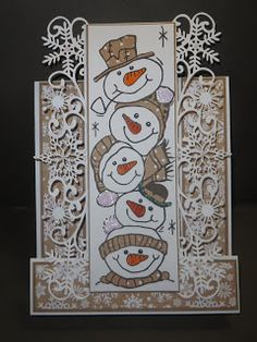 Barbara, BJCrafty: Hougie Board Stepper Card--Woodward Stamps; Creative Expressions Border Die