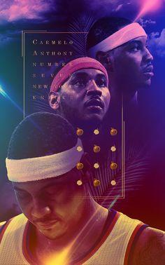 Carmelo Anthony 'Big Apple' Art