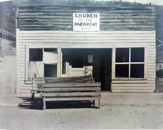 "© Walker Evans, ""American Photographs"". Church of the Nazarene. Tennessee, 1936"