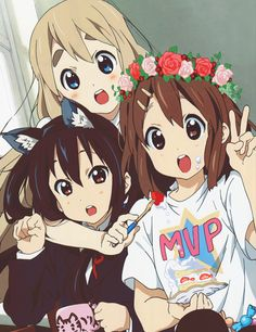 "[Day 66- a slice of life anime] K-on, high on my list of ""cute girls doing cute…"