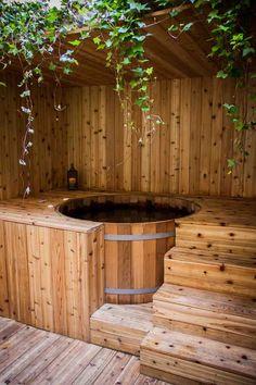 Outdoor Rooms, Outdoor Gardens, Outdoor Living, Outdoor Decor, Garden Pool, Backyard Patio, Patio Design, Garden Design, Tub Enclosures