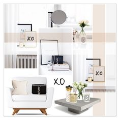 """""""XO"""" by helenevlacho ❤ liked on Polyvore featuring interior, interiors, interior design, home, home decor, interior decorating, LSA International, Diptyque, Tom Dixon and Yves Saint Laurent"""