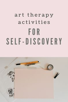 Art Therapy Activities for Self-discovery - diy kid room ideas,diy childrens room ideas,diy boy room ideas Art Therapy Projects, Therapy Tools, Counseling Activities, Art Therapy Activities, Art Therapy Directives, Creative Arts Therapy, Journaling, Expressive Art, Self Discovery