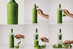 """I. C'est pour lancer sa nouvelle gamme de vodka aromatisée que Smirnoff a créé cette nouvelle bouteille """"pelable"""". Fonctions techniques : une bonne conservation dans une bouteille en verre et un transport facilité par des boite en bois dans lesquels les bouteilles sont placées. Communication : gros impact visuel de par l'originalité du concept et du """"buzz"""" engendré. Le positionnement original, festif et l'aspect naturel des composant est bien retransmis grâce à ce nouveau packaging."""