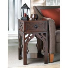 Ornate Moroccan Style Brown Table Living Room Sofa Furniture Bedroom Night Stand #HomeLocomotion #Moroccan