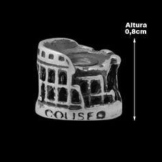 Berloque de Prata Coliseu da Itália.