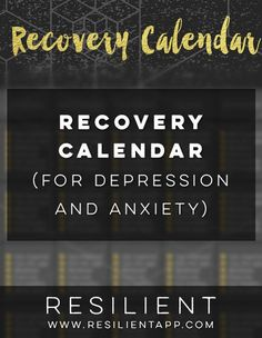 Recovery Calendar (for Depression and Anxiety)
