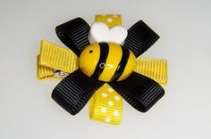 Bumble Bee Hair Clip by LilahRaeBOWTique