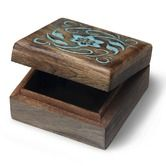 Boxes & Baskets   Fair Trade Homewares Carved Flower Design keepsake Box in Blue $16.95 To place an order for this beautiful home decor items, click on the link below www.oxfamshop.org... #oxfam #oxfamshop #fairtrade #shopping #homedecor