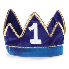 Ever-so stunning Lil' Prince Birthday Plush Crown. Exclusive ideas of Prince Crowns & Tiara's for Halloween, Birthday, Birthday at PartyBell. Prince Birthday Party, Baby Boy First Birthday, First Birthday Parties, First Birthdays, Birthday Gifts, Birthday Ideas, Birthday Outfits, Party Hats, Crowns