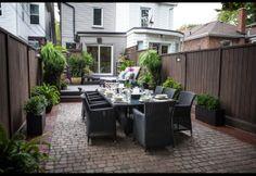Outdoor Oasis designed by Danielle Bryk via HGTV show one bryk at a time Outdoor Rooms, Outdoor Dining, Outdoor Gardens, Outdoor Decor, Dining Table, Patio Yard Ideas, Backyard Patio, Backyard Ideas, Garden Ideas