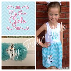 Frozen Inspired Olaf Tank Dress with Matching Headband or Bow on Etsy, $31.95