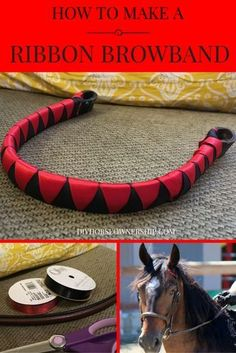 Do It Yourself DIY: How to Make a Ribbon Browband for your horse or mule. Easy to follow instructions with pictures.