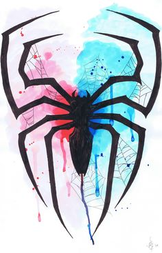 Resultado de im agen para spiderman watercolors Marvel Comics, Bd Comics, Marvel Art, Marvel Heroes, Marvel Avengers, Poster Marvel, Marvel Logo, Spiderman Tattoo, Spiderman Art