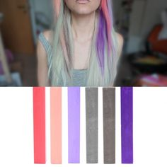 Best Silver Lavender Ombre Hair Dye Set of 6 | METALLIC DIY Hair Chalk Kit >>> This is an Amazon Affiliate link. Read more reviews of the product by visiting the link on the image.