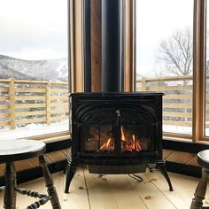 fireplace ideas standalone wood burning stove pellet stove  #Regram via @annakayoh