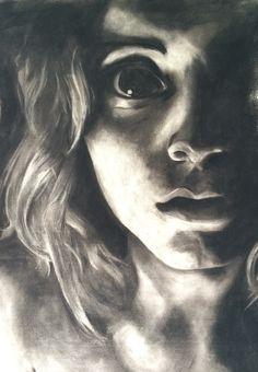 Charcoal Portrait by Razzmataz2 on Etsy, $300.00