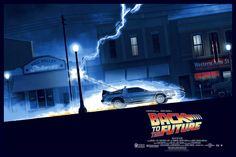 pixalry: Back to the Future Trilogy Posters - Created by Matt Ferguson Part of the Amblinesque art exhibition more details available here. The Future Movie, Back To The Future, Future Car, Indiana Jones, Delorean Time Machine, The Time Machine, Marty Mcfly, Movie Poster Art, Frames