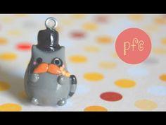 DIY Mustache Gentleman Pusheen Cat Polymer Clay Charm Tutorial - YouTube