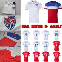 usa team jersey 2014 fifa world cup home and away