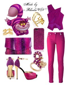 """""""Cheshire Cat 1"""" by rheebavn ❤ liked on Polyvore featuring Jennifer Zeuner, Roland Mouret, Giorgio Armani, Charles by Charles David, Kenzo, Yves Saint Laurent and Disney"""