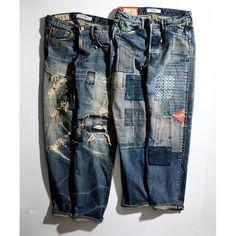 FDMTL #japan #fashion #indigo #patchwork #denim #ss16 #menswear #jeans