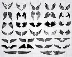 Angle Wing Tattoos, Wing Tattoo Arm, Wing Tattoos On Back, Back Tattoo, Small Wing Tattoos, Tattoo Neck, Broken Wings Tattoo, Cross With Wings Tattoo, Tattoo Wings