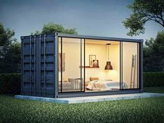 Container home conceptYou can find Shipping container design and more on our website.Container home concept Shipping Container Office, Shipping Container Home Designs, Shipping Containers, Shipping Container Conversions, Building A Container Home, Container House Plans, Container Houses, Container Gardening, Container Van