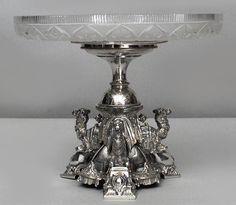 English Victorian accessories centerpiece/compote silver-plate