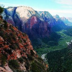 Heavenly reward: Make the 1,700-foot, 2.5-mile hike to Angel's Landing, and you get this view of Zion Canyon and the silver meanders of the Virgin River.