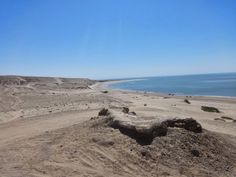 View from the top of a Sand Dune looking at the Golf of California. El Golfo De Santa Clara, Sonora, Mexico. Desert.