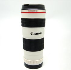 A Canon Lens Mug!  Aaron has the real thing but, I love these mugs.