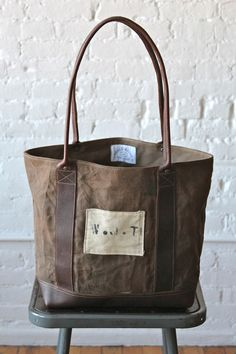 I'm in love with Forest Bound!  World War 1 era Canvas Carryall