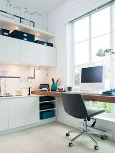 Luxury Home Office Design Ideas. Hence, the need for house offices.Whether you are intending on adding a home office or restoring an old room right into one, right here are some brilliant home office design ideas to aid you get going. Tiny Office, Small Space Office, Home Office Space, Office Workspace, Home Office Design, Home Office Decor, Office Furniture, House Design, Office Ideas