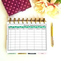 Many of my customers are finding that the medical insert set in my shop is helping them organize their medications, info, and appointments. Some of the inserts, like this appointment log, are also available individually.