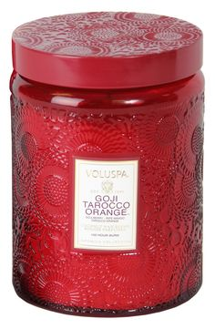 This gorgeous Voluspa candle boasts a fragrant blend of goji berry, ripe mango and Tarocco orange and has an impressive 100-hour burn time.