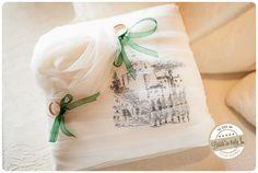 Cute diy ring cushion with a tulle rose. Ph Qualcosa di Blu http://www.brideinitaly.com/2013/11/qualcosadibludiydress.html #italianstyle #wedding