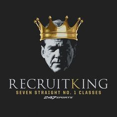 All hail the undisputed King of Recruiting. #Alabama #RollTide #RTR Crimson Tide Football, Alabama Crimson Tide, Alabama Football Quotes, Alabama Athletics, Nick Saban, University Of Alabama, Roll Tide, Drown, Coaches