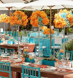 Orange And Teal A Possible Wedding Color Scheme Soon Tangerine
