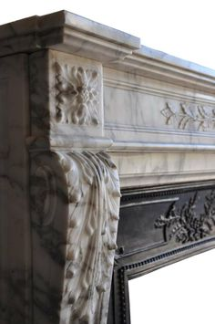 French Louis XVI Style Marble Fireplace - 19th Century   From a unique collection of antique and modern fireplaces and mantels at http://www.1stdibs.com/furniture/building-garden/fireplaces-mantels/