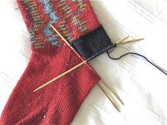 how to reknit the heels of socks