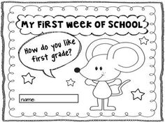 It's Back to School First Graders. $ Filled with fun literacy activities for the first weeks back to school.