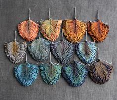 silk earrings!