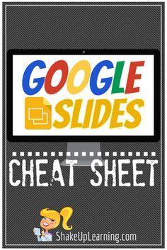Google Slides CHEAT SHEET (Free Download) | www.shakeuplearning.com | #gafe #googleedu #googledrive #edtech