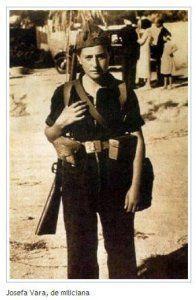 Spanish Civil War, Republican miliciana Josefina Vara, heroine of the Mangada column. Idf Women, Military Women, Military History, Military Art, Aragon, Spanish War, Military Coup, History Activities, Brave Women