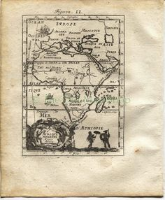 "1719 Manesson Mallet ""Afrique Moderne"" Modern Africa Antique Map, Print by TheOldMapShop on Etsy"