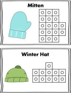 Here is a fun Winter themed math center to use during the cold winter months! Students will select a card, and use snap cubes to replicate the picture on the card. Then they can count the number of cubes used to make the shape and record it on their recording sheet!